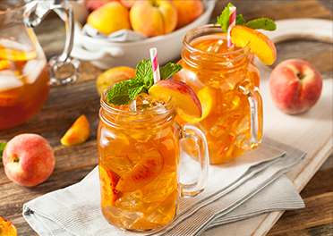 Cool Peach Iced Tea